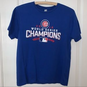 Chicago Cubs 2016 World Series Champions Blue Tee